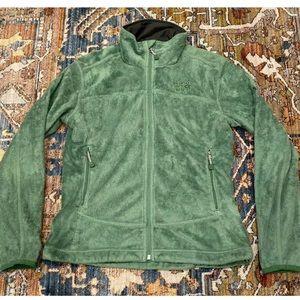 Mountain Hardwear Green Fuzzy Fleece Jacket